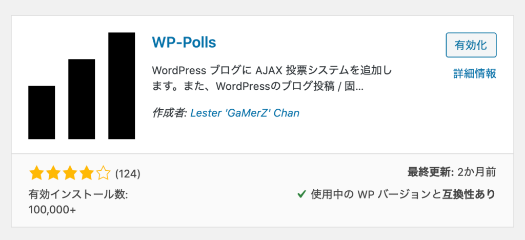 WP-Pollsプラグイン
